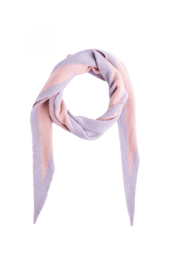 LONG TRIANGULAR LINED SCARF