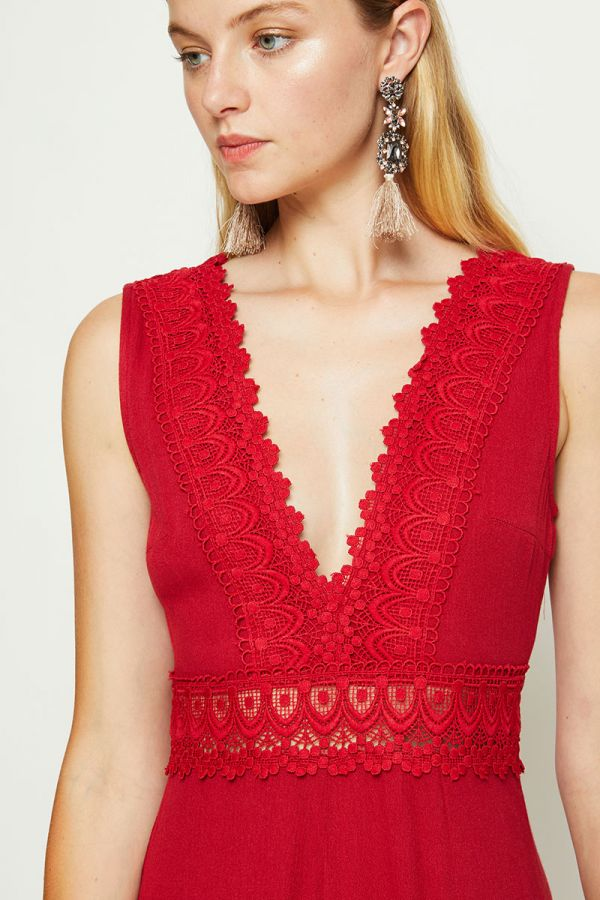DIDIRA LACE TRIM JUMPSUIT