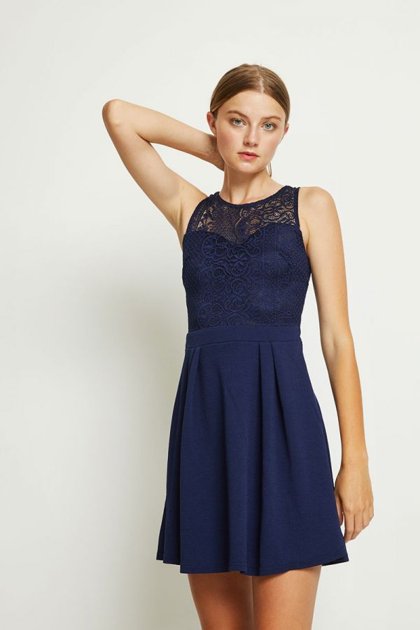 LAMIS FIT AND FLARE DRESS