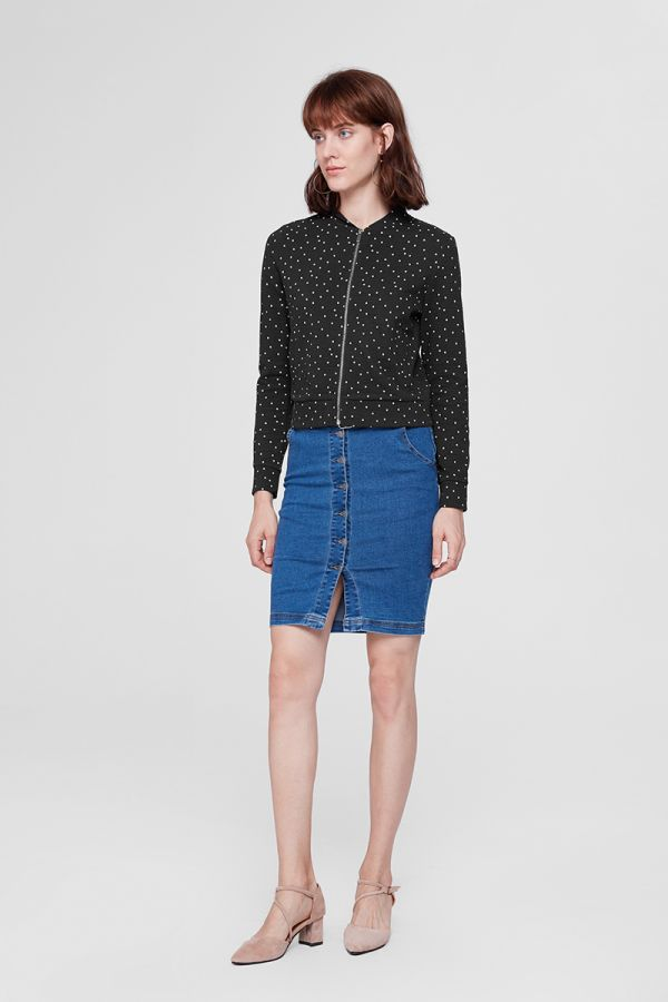 MARIE DOT ZIP JACKET