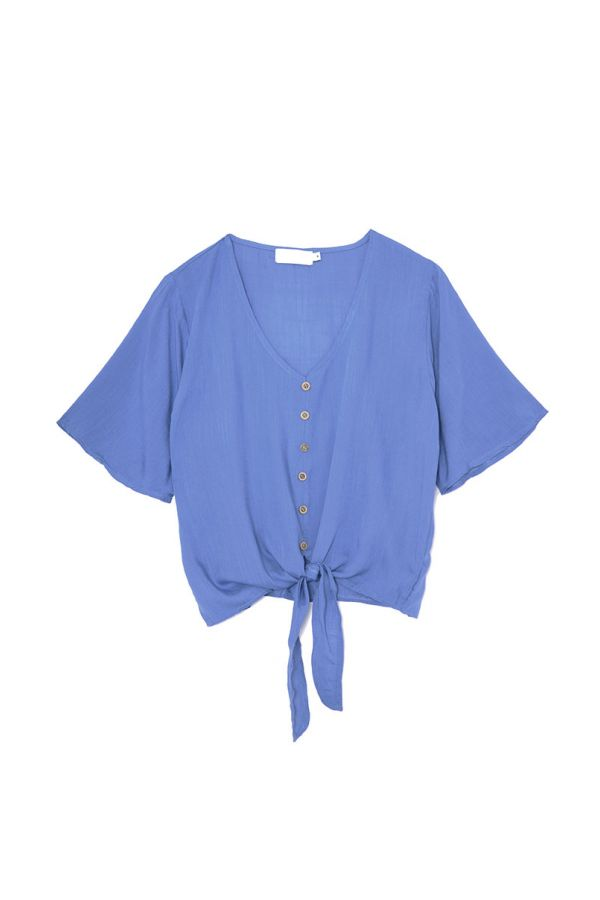 DELICIA TIE UP BLOUSE