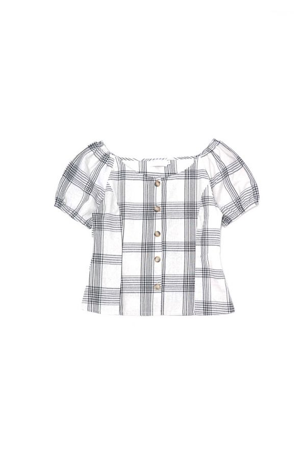 ORIANA BUTTON UP TOP