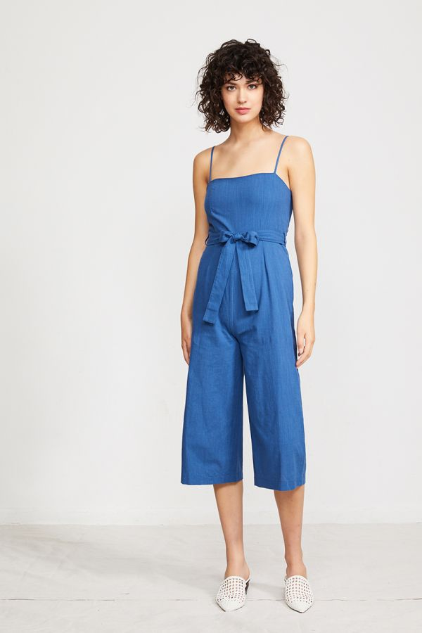 LACEY CHECKED JUMPSUIT