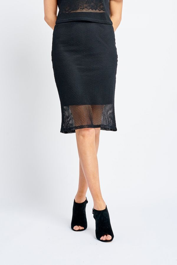 XANDA NET SKIRT