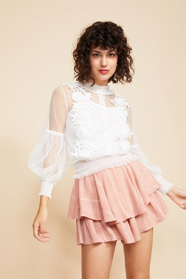 ESTELLE MESH & LACE TOP (INNER TOP INCLUDED)