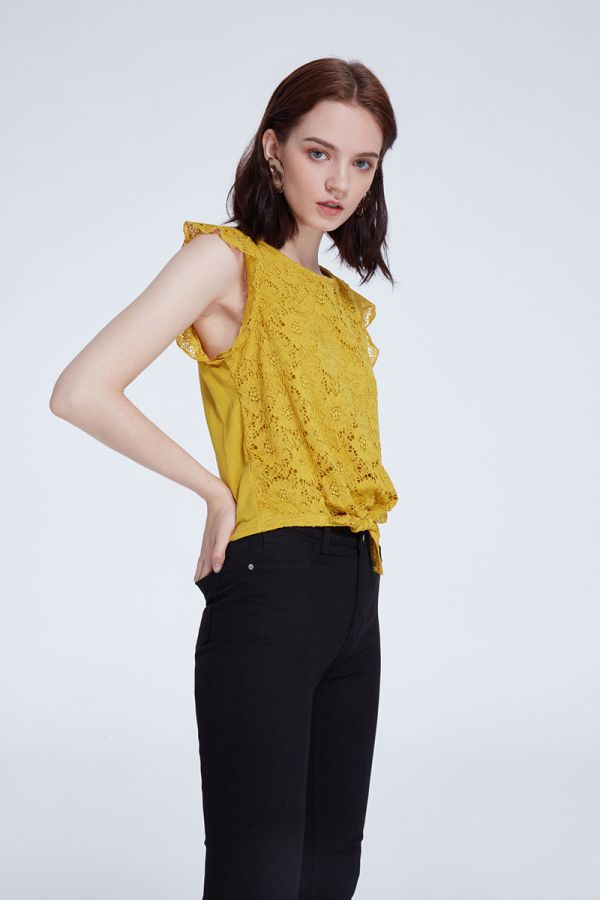 KELLY LACE TIE TOP (320785)