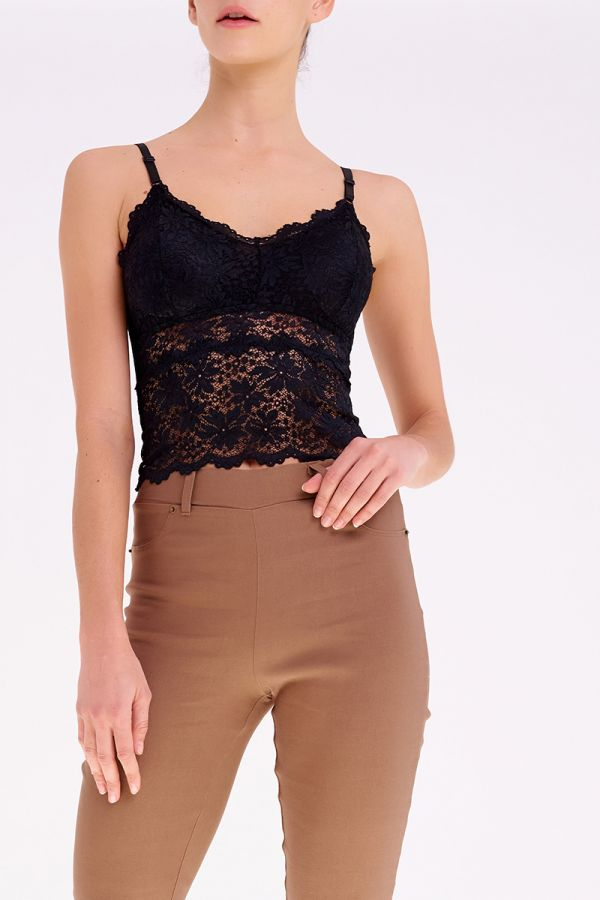 JOLIE LACE CROP TOP  (320825)