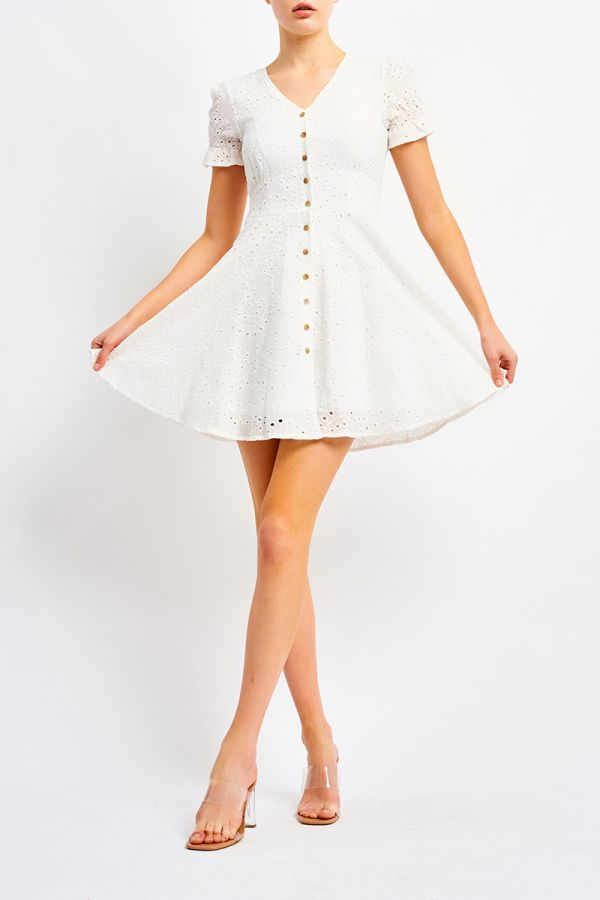 PORCELAIN BUTTON DRESS