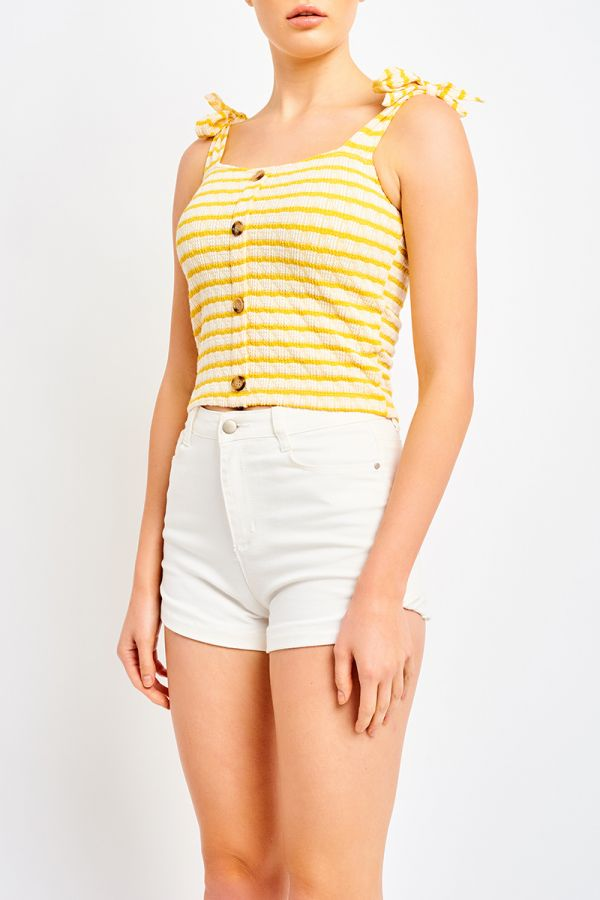 DORA TIE SHOULDER TOP