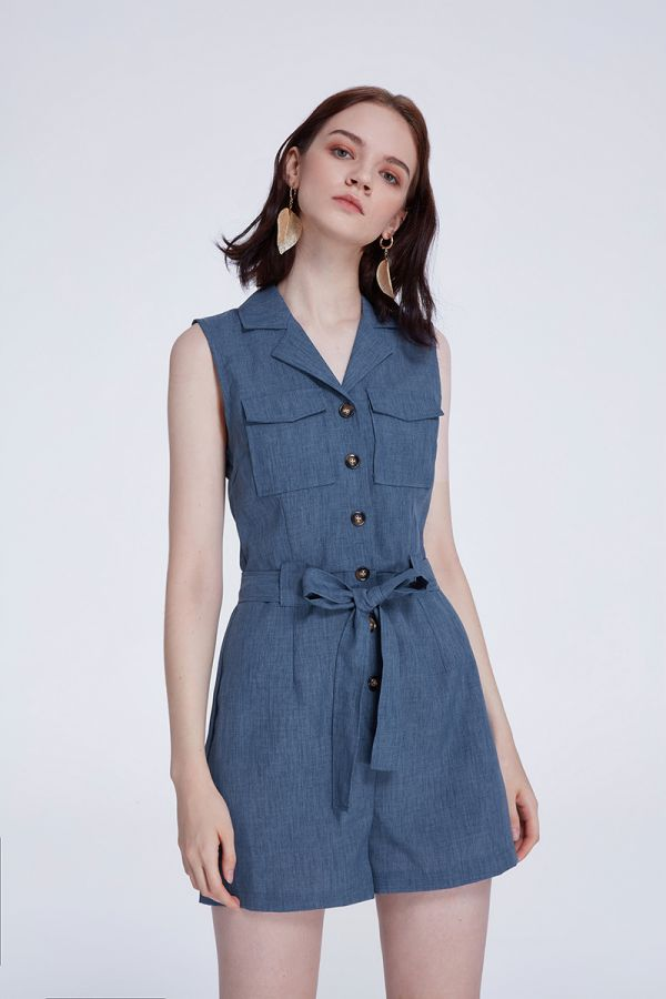 CALAIS COLLAR PLAYSUIT