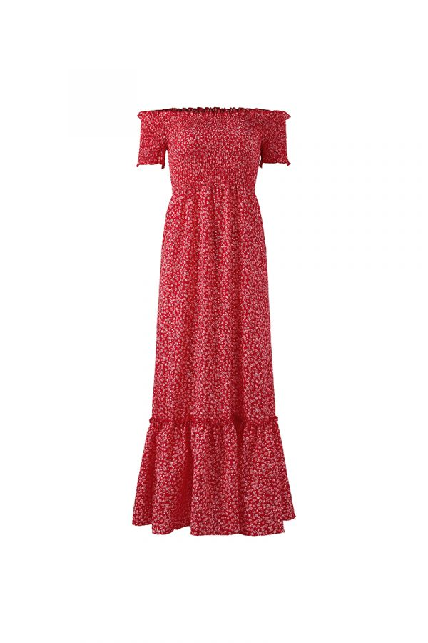 RYLEE SHIRRED TOP MAXI DRESS