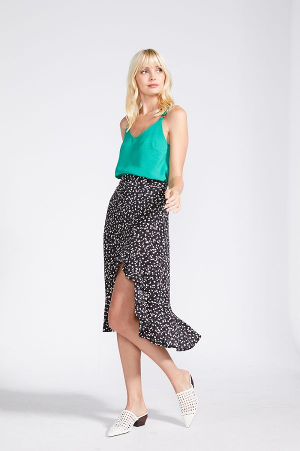 TRISH BOTTON UP SKIRT (322272)