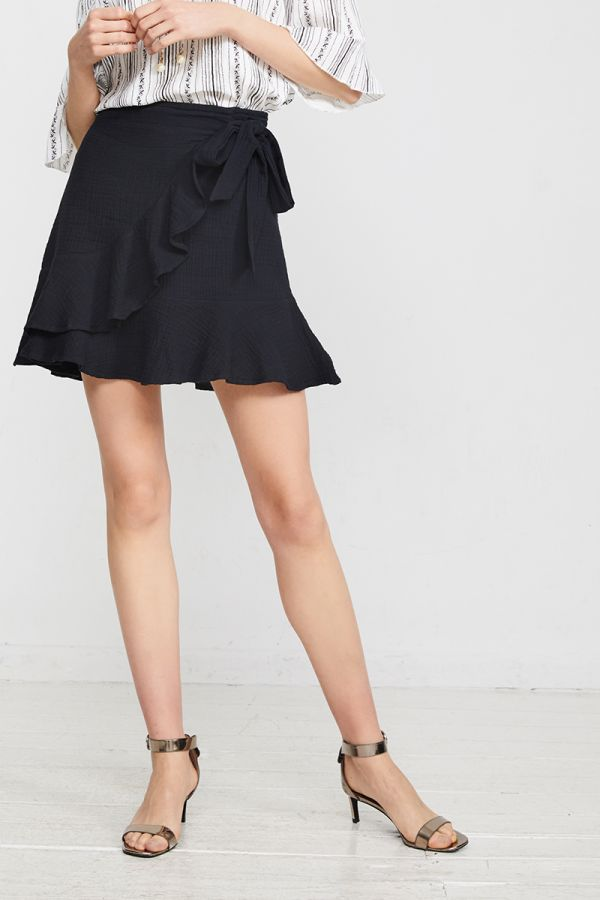 LYDIA WRAP MINI SKIRT (322317)