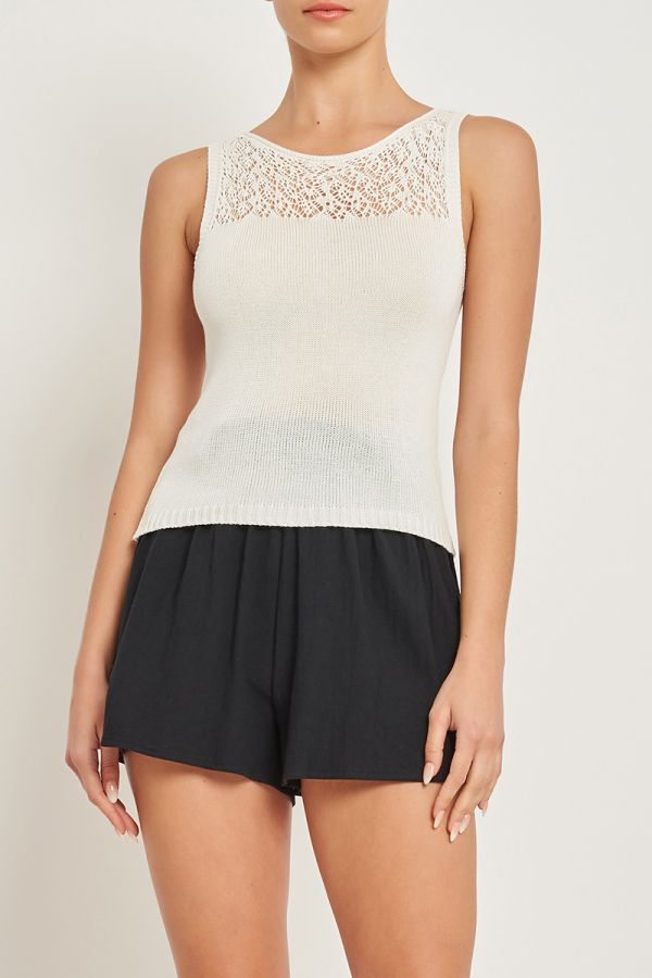 ZELLIA KNITTED SLEEVELESS TOP