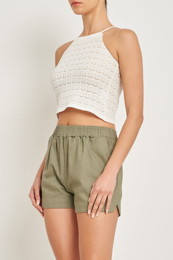 HANA HALTER KNIT TOP