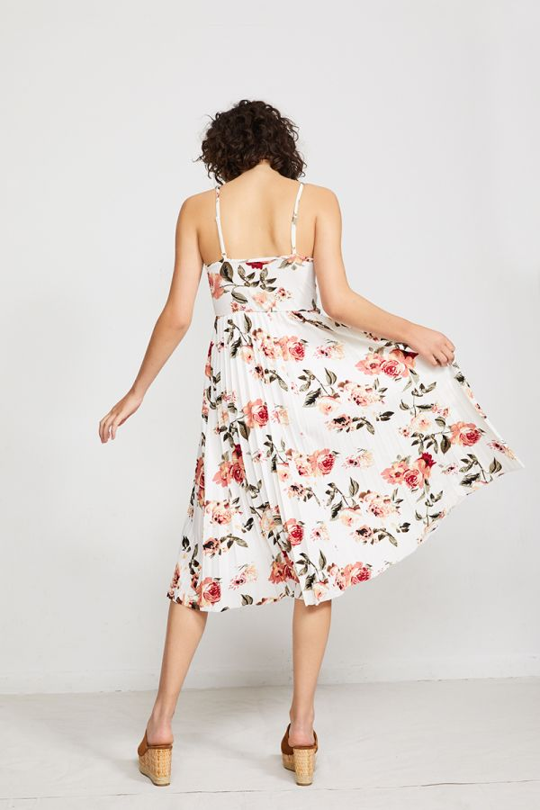 MAGDALENA PLEATED FLORAL DRESS