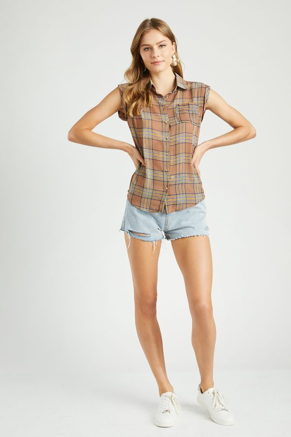 CHECK SHORT SLEEVE SHIRTS  (322721)