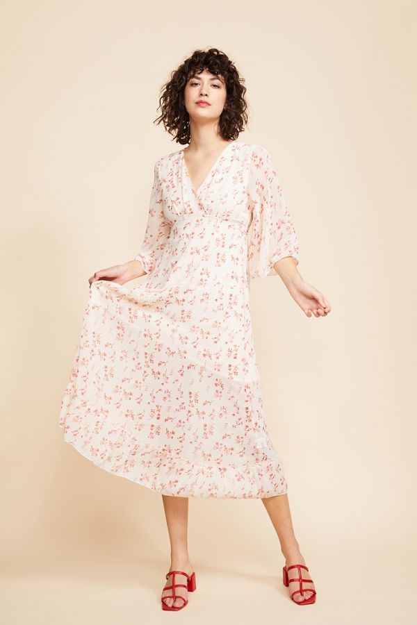 EVA FLORAL LONG SLEEVE DRESS