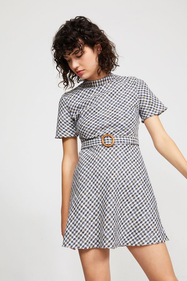 CLAIR MINI BELTED DRESS
