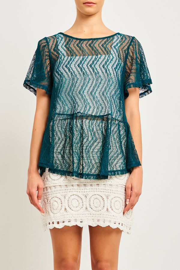 CASCADE LACE TOP (INNER NOT INCLUDED)