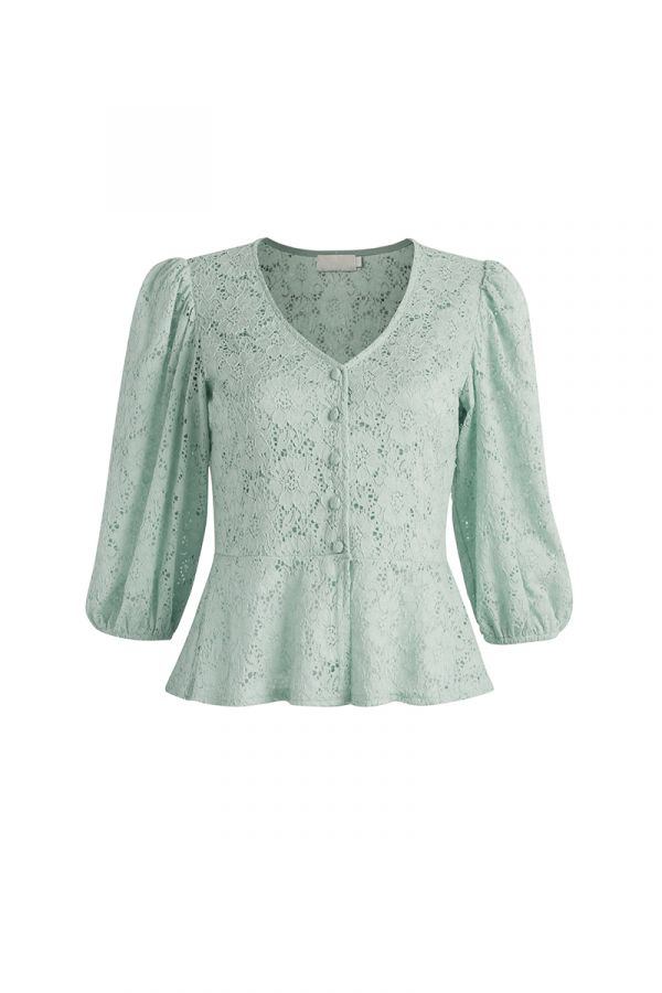 MAGNOLIA PEPLUM LACE TOP