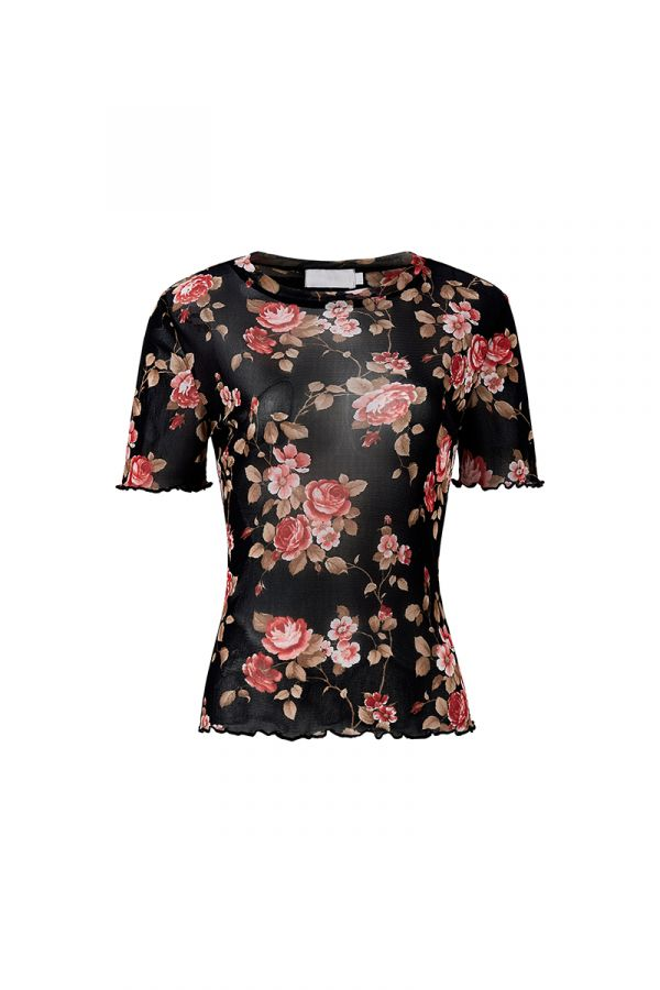EVELYN SHEER TOP
