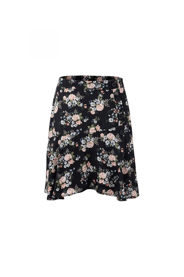 LILY BUTTON DETAIL MINI SKIRT
