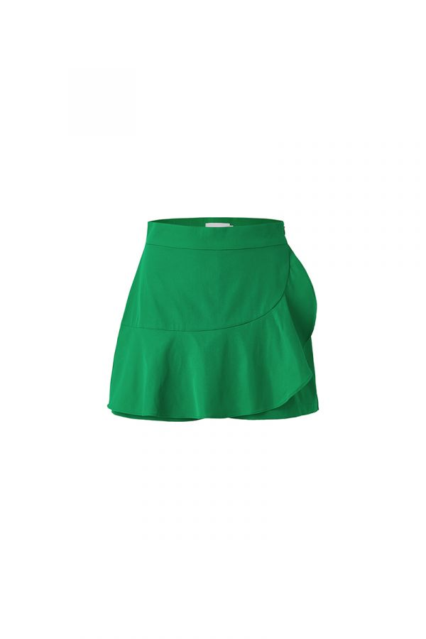 SAVANNA RUFFLE HEM MINI SKORT