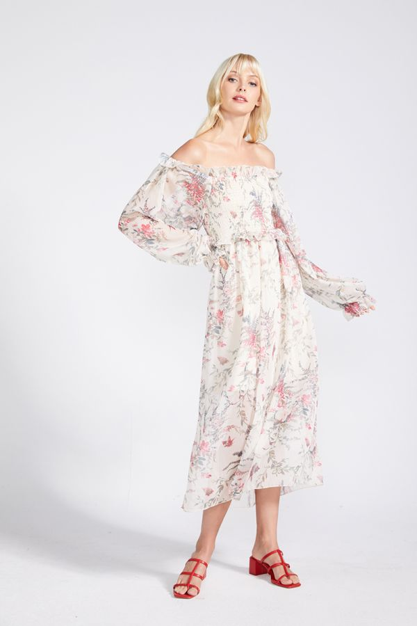 RAQUEL PUFF LONG SLEEVE DRESS