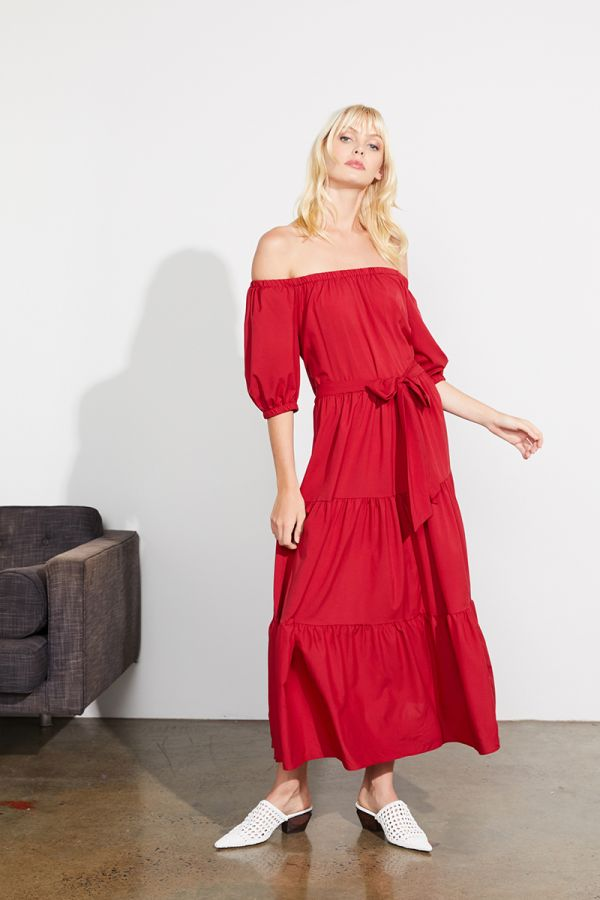 MARISSA OFF SHOULDER MAXI DRESS