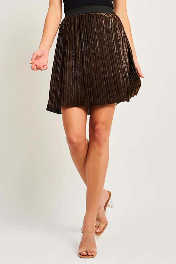 MOONLIGHT PLEATED MINI SKIRT