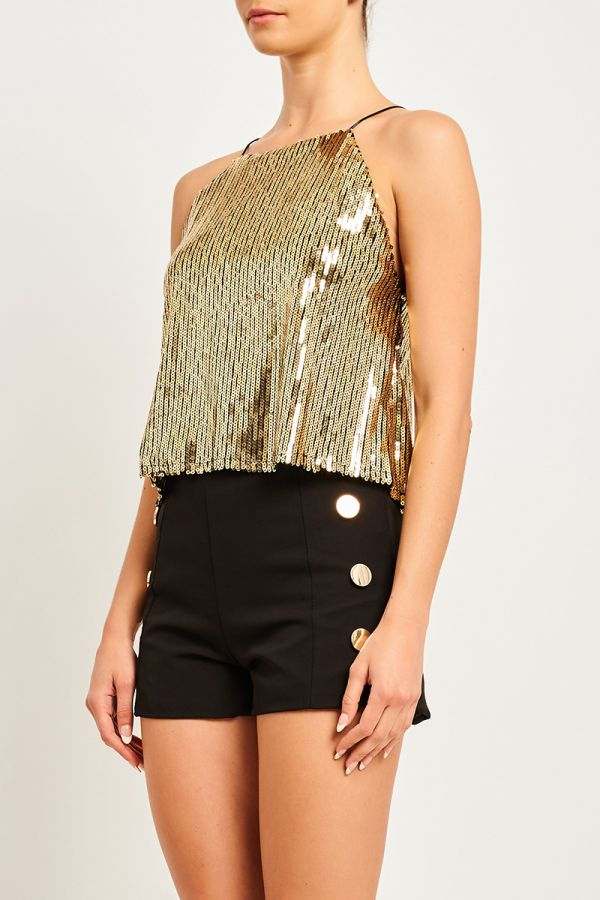 LUNA SEQUIN CAMI TOP