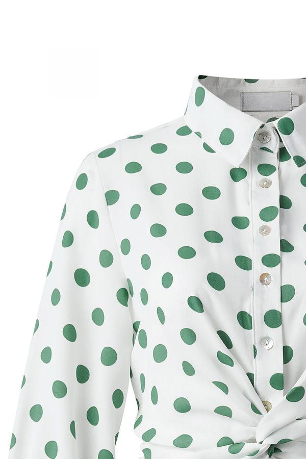 SPOT TWISTED FRONT SHIRT
