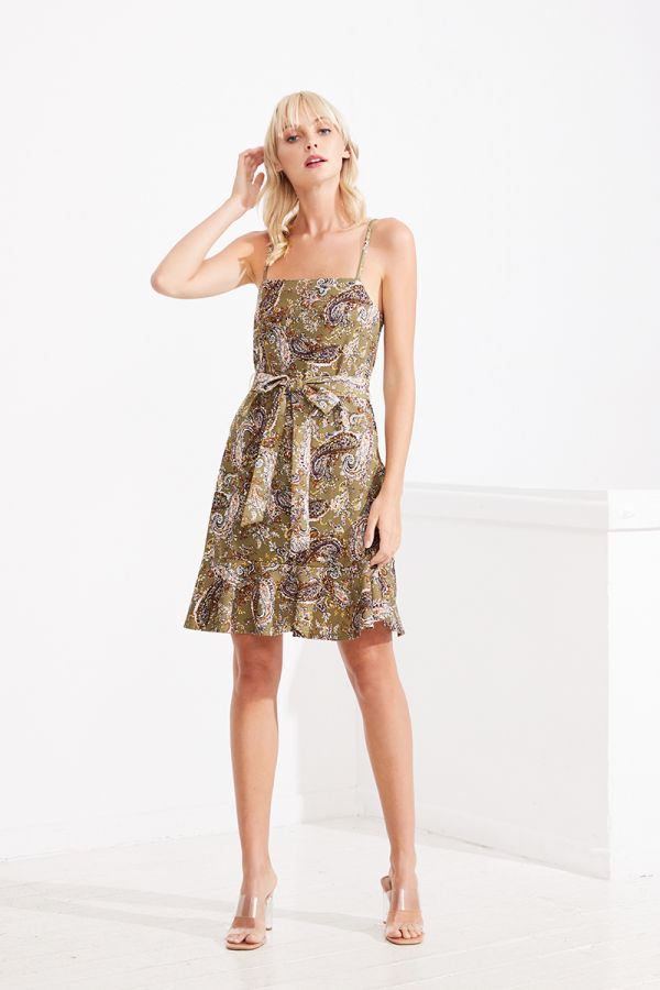 PAOLA TIE FRONT DRESS (323371)