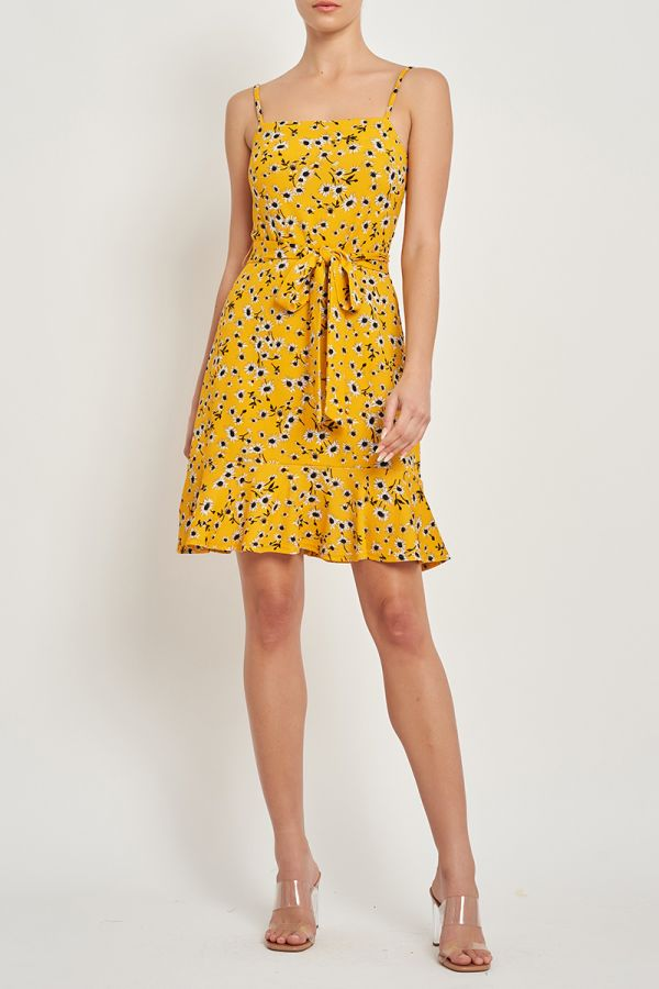 PAOLA TIE FRONT DRESS