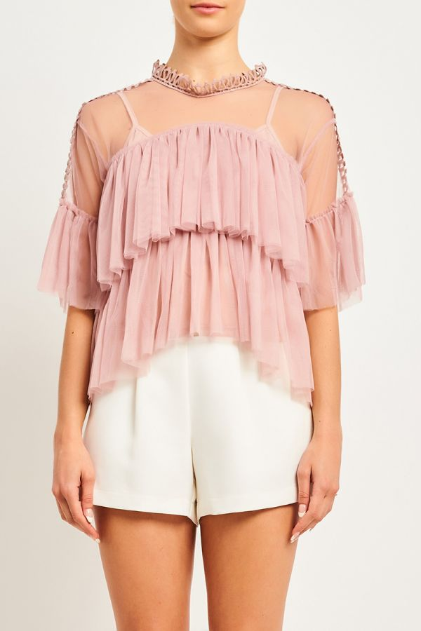 LILI LAYERED TULLE TOP