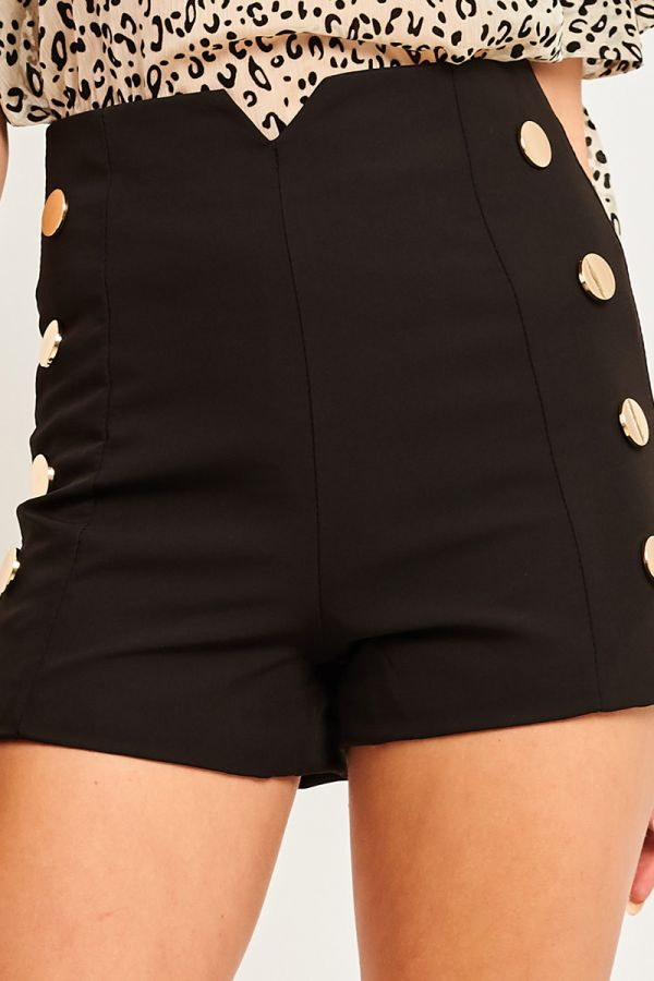 BUTTON HIGH WAISTED SHORTS