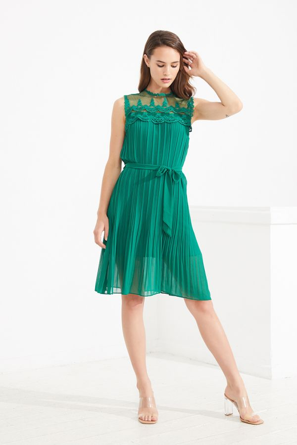 MAGDALENA PLEATED DRESS (323632)