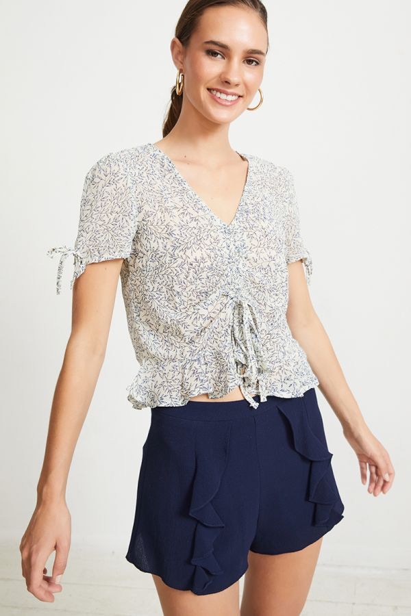 JOHANNA RUCHED TOP (323724)