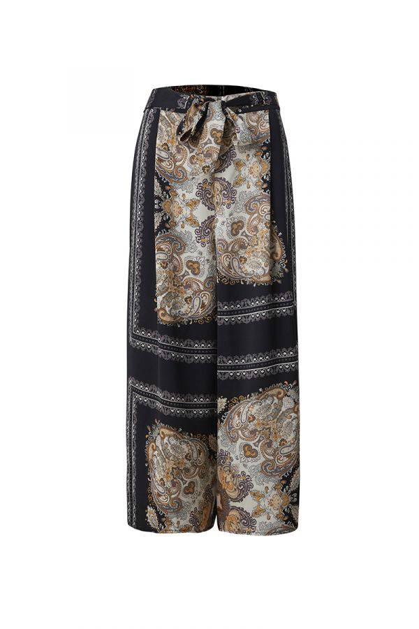 ABBY WIDE LEG SCARF PRINT PANTS (323773)