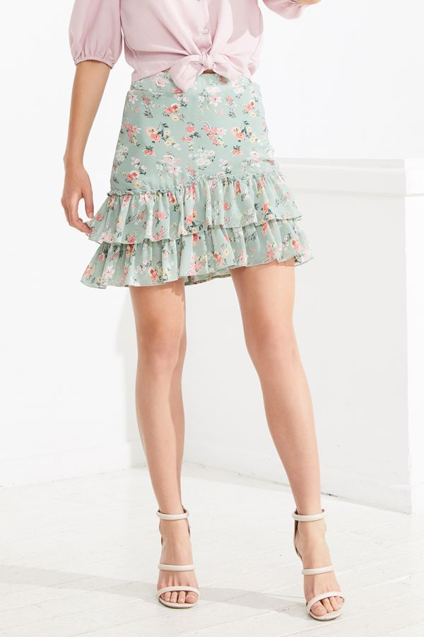 MIAMI FRILL TIERED SKIRT