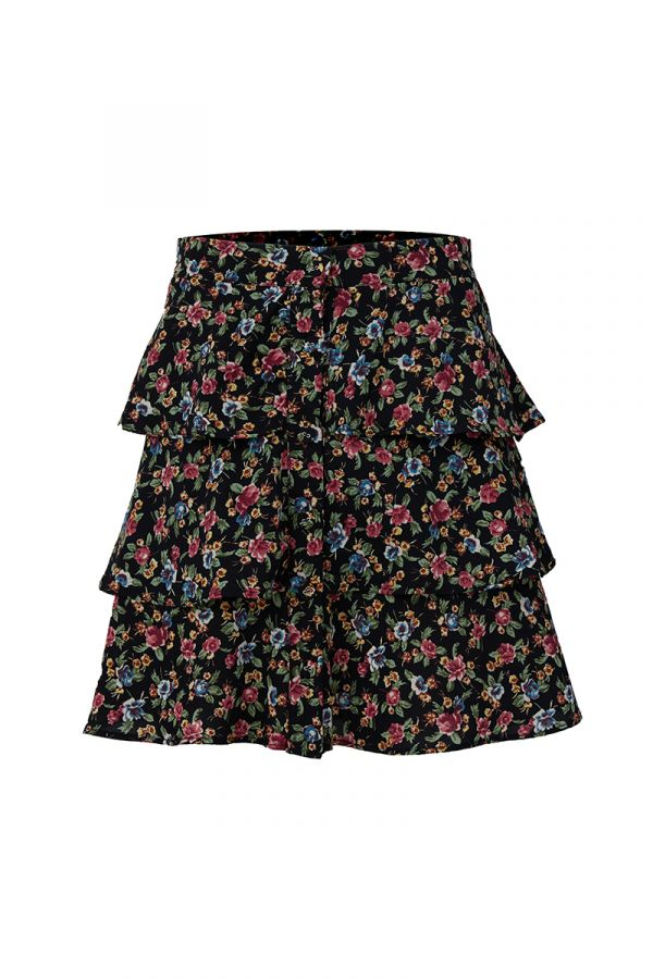 DITZY TIERED MINI SKIRT (323857)