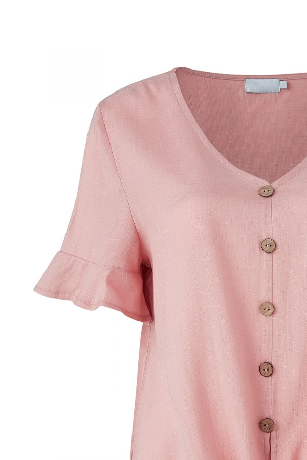 LINDY BUTTON DOWN TIE FRONT TOP (323889)
