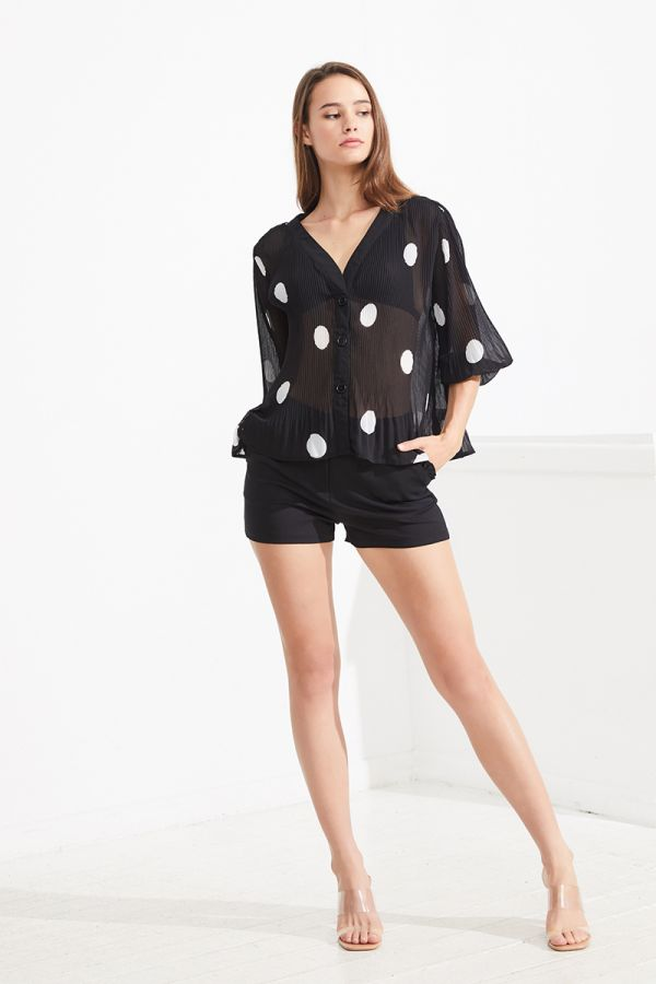 ERICA SPOTTED SHEER SHIRT (323912)