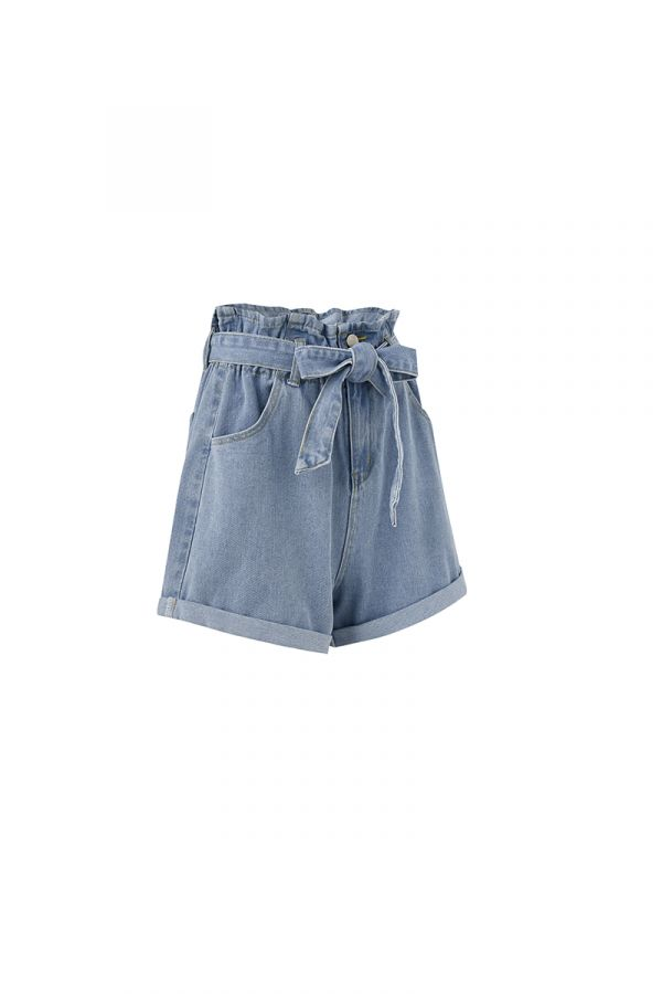 DARREN PAPERBAG DENIM SHORTS (323937)
