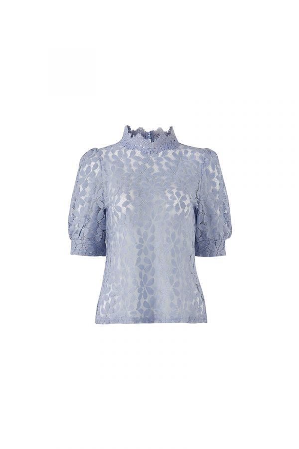 RUBY HIGH NECK LACE TOP (323943)