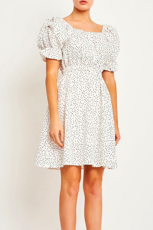 MARBELLA PUFF SLEEVE DRESS (323981)