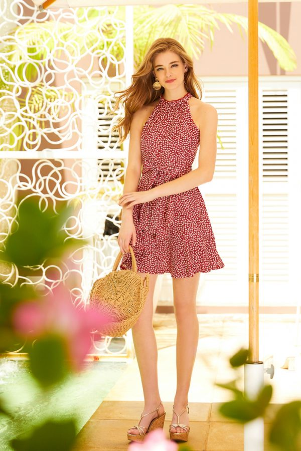 LUCY FRONT TIE DRESS (324005)