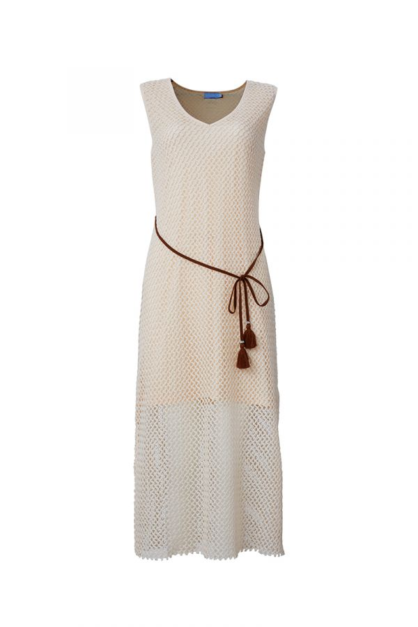 SYLVIA MAXI DRESS WITH TIE BELT