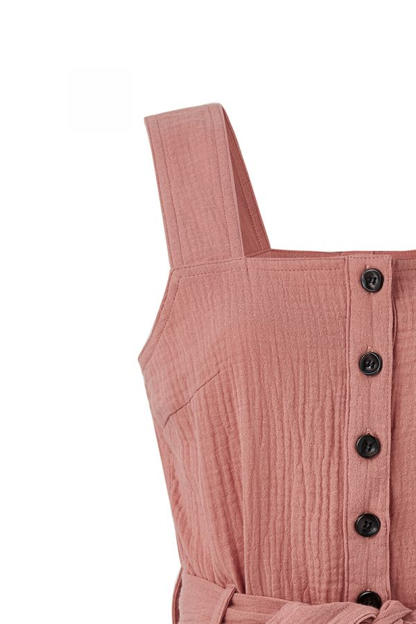 RILEY BUTTON DOWN SLEEVELESS PLAYSUIT (324032)